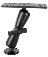 RAM Mounts ram mount 1.5 inch ball w double socket arm round rectangle base