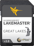 """LakeMaster Chart Great Lakes Brand New, The Humminbird LakeMaster Great Lakes Edition, Version 2 Map Card combines many of the best fishing waters for Indiana, Ohio, Michigan, Kentucky and Tennessee all on one map card"