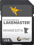 """LakeMaster Chart - Minnesota Brand New, The Humminbird LakeMaster Minnesota Edition, Version 5 Map Card boasts a total of over 2, 200 lakes with more than 400 lakes in High Definition"