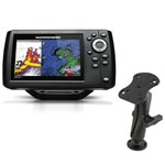 Humminbird Helix 5 G2 Chirp Sonar-GPS Combo with RAM Mounts Electronic Mount